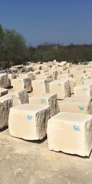 French limestone quarry blocks