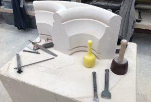 Lavoux French limestone - Lavoux a Grain Canterbury Cathedral workshop