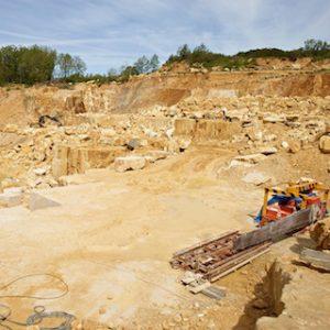 Lavoux French limestone quarry